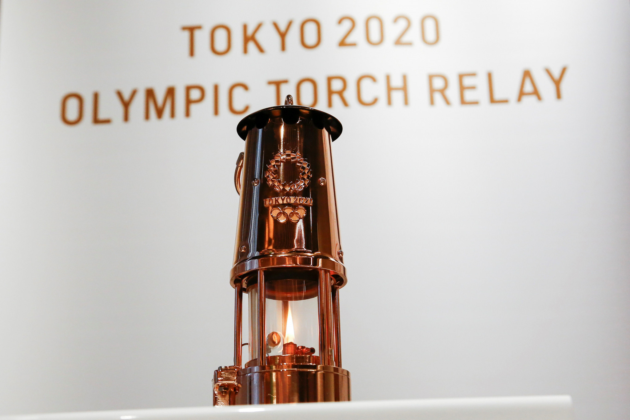 Olympic Flame unveiled near National Stadium in Tokyo