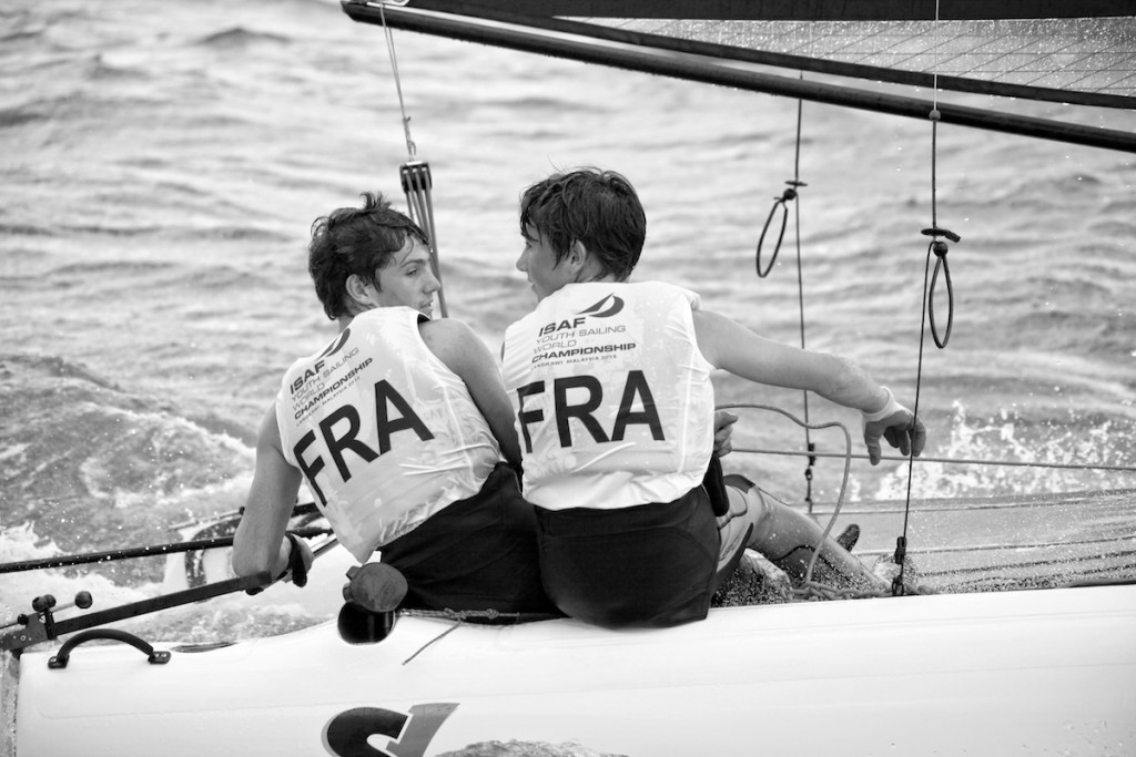 French pair assert SL16 class dominance at Youth Sailing World Championships