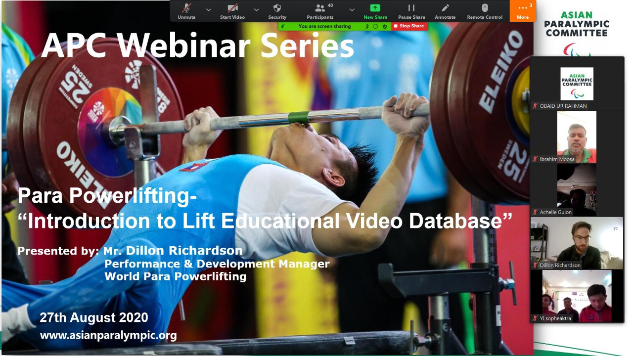 First Asian Paralympic Committee webinar proves to be successful