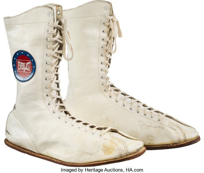 The boots worn by Muhammad Ali during his 1975