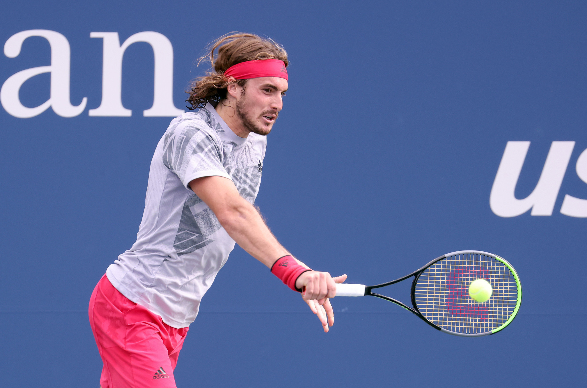 Fourth seed Stefanos Tsitsipas of Greece lost just four games as he reached the second round of the US Open ©Getty Images