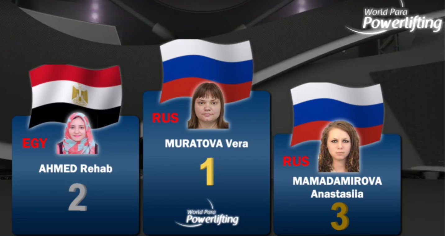 Muratova stars in Facebook-streamed World Para Powerlifting Online World Cup leg