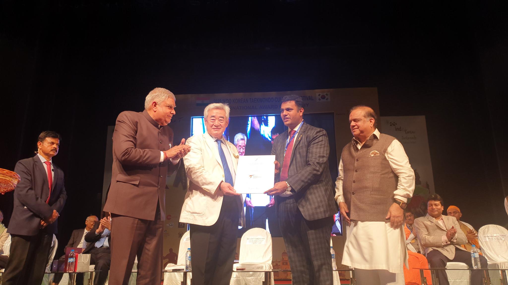 World Taekwondo President Chungwon Choue visited India this year  ©World Taekwondo