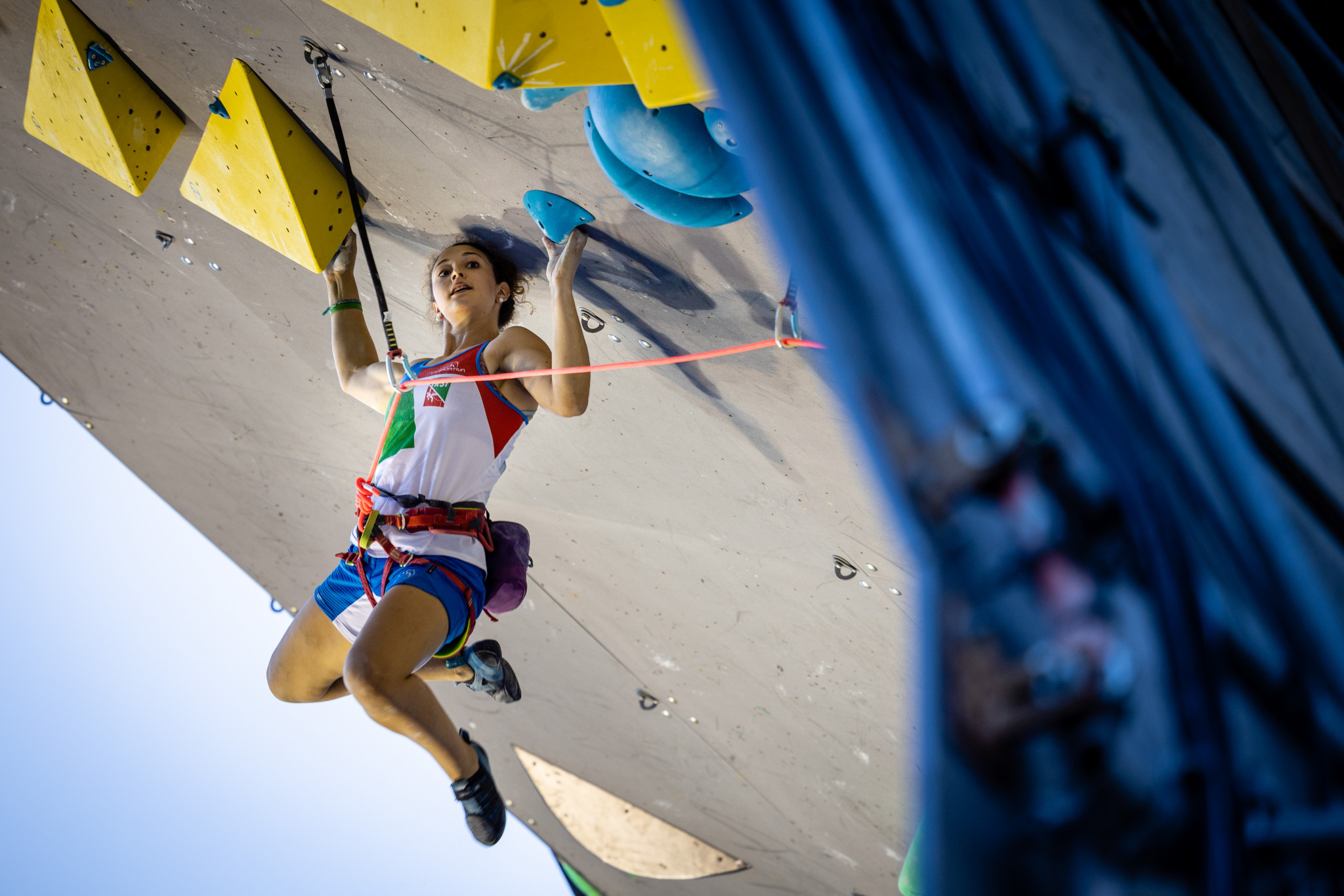 Italy's Tesio Giorgia in action during the 2020 IFSC World Cup in Briançon ©IFSC