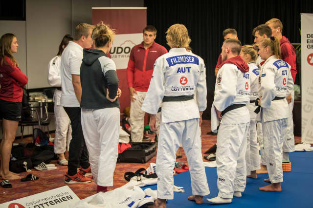Austria and Germany hold judo training camp prior to resumption of season