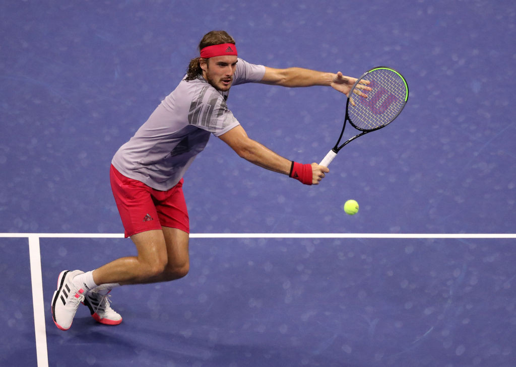 Fourth seed Stefanos Tsitsipas beat American Maxime Cressy to reach the third round of the men's draw ©Getty Images