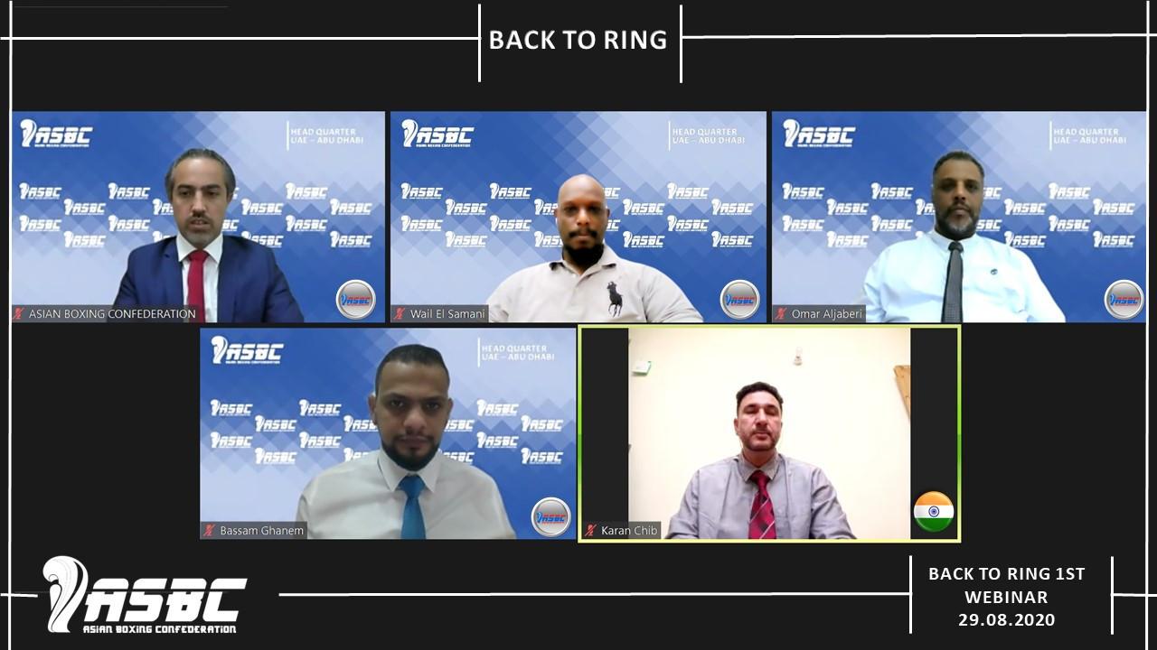 ASBC hosted its Back to Ring webinar, led by Karanjeet Singh ©ASBC