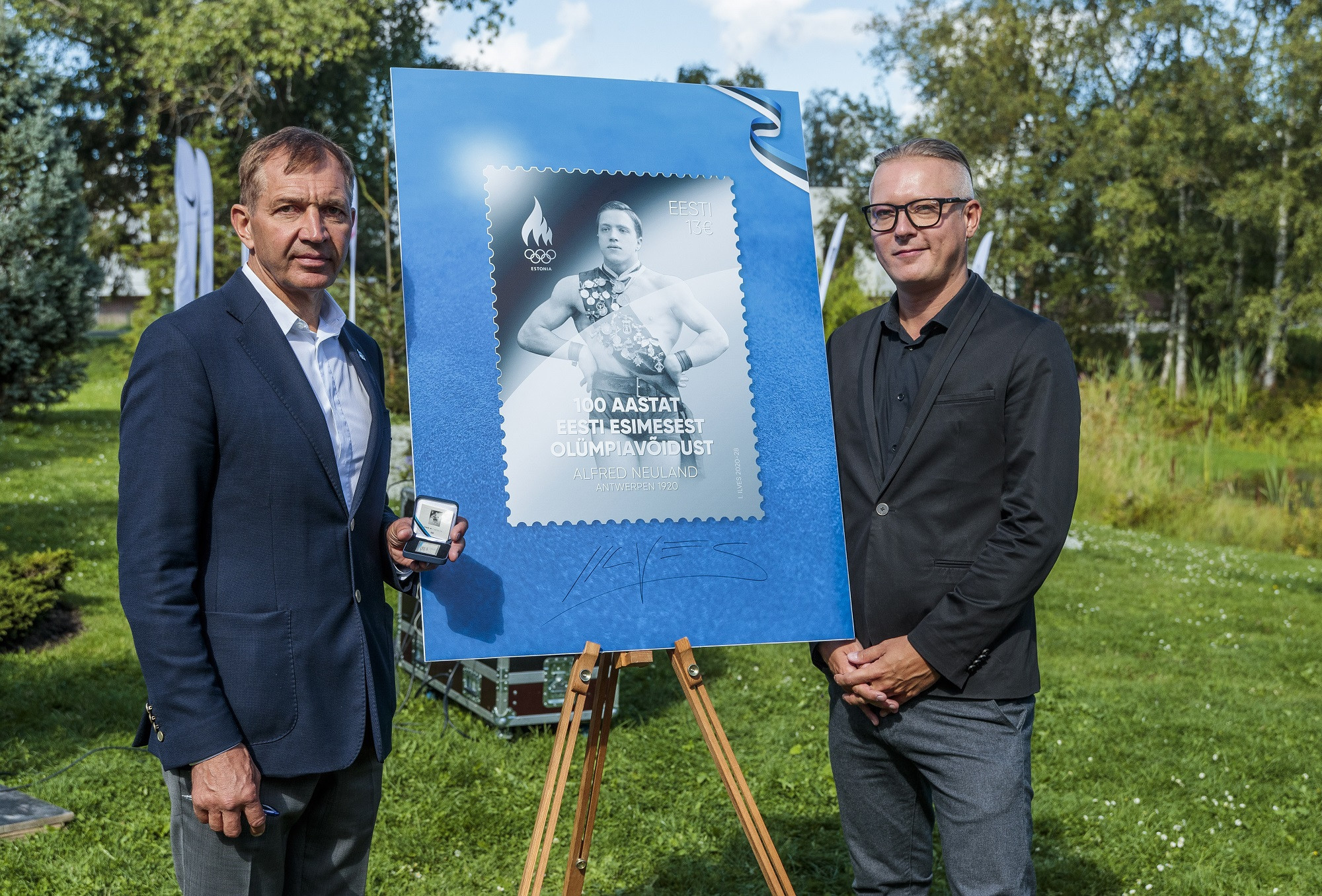 """Olympic powerhouse"" Estonia issue silver stamp to mark 100th anniversary of first gold"