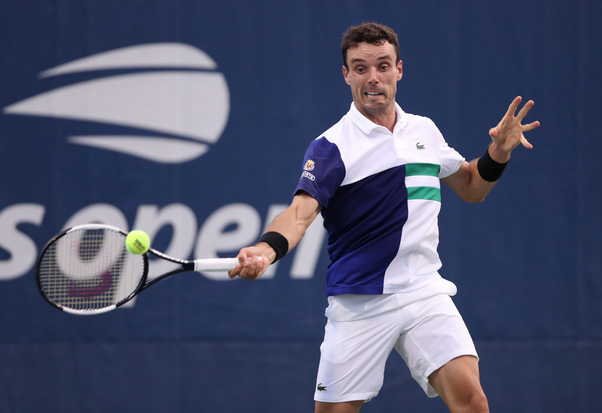 Roberto Bautista-Agut, the eighth seed, beat Miomir Kecmanovic of Serbia in four sets to reach the third round ©Getty Images