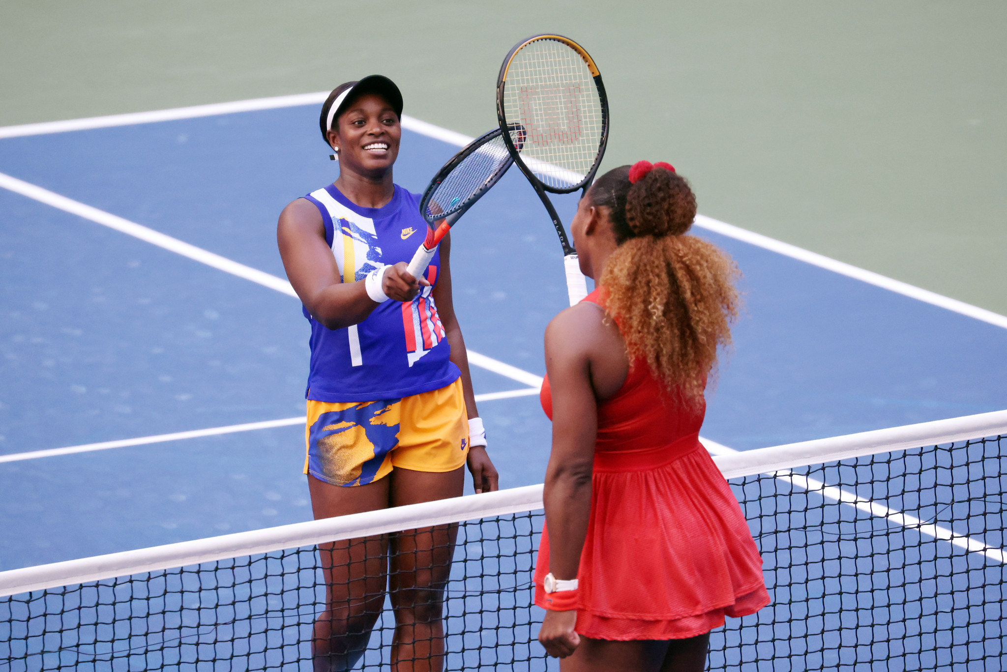 Serena Williams cheered on by young daughter as keeps hopes of 24th Grand Slam title alive