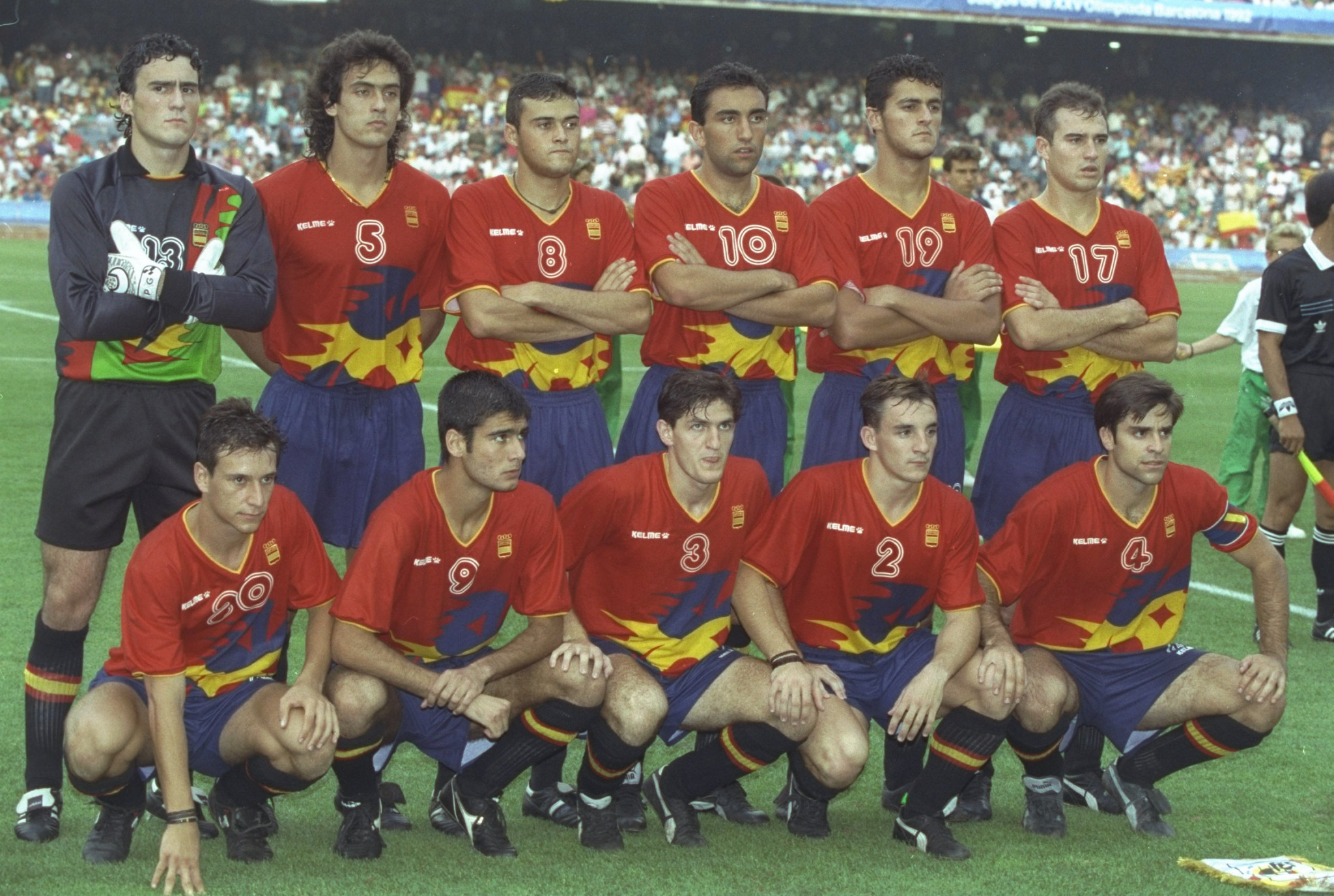 Spain went one better at Barcelona 1992, winning men's Olympic football gold as hosts ©Getty Images