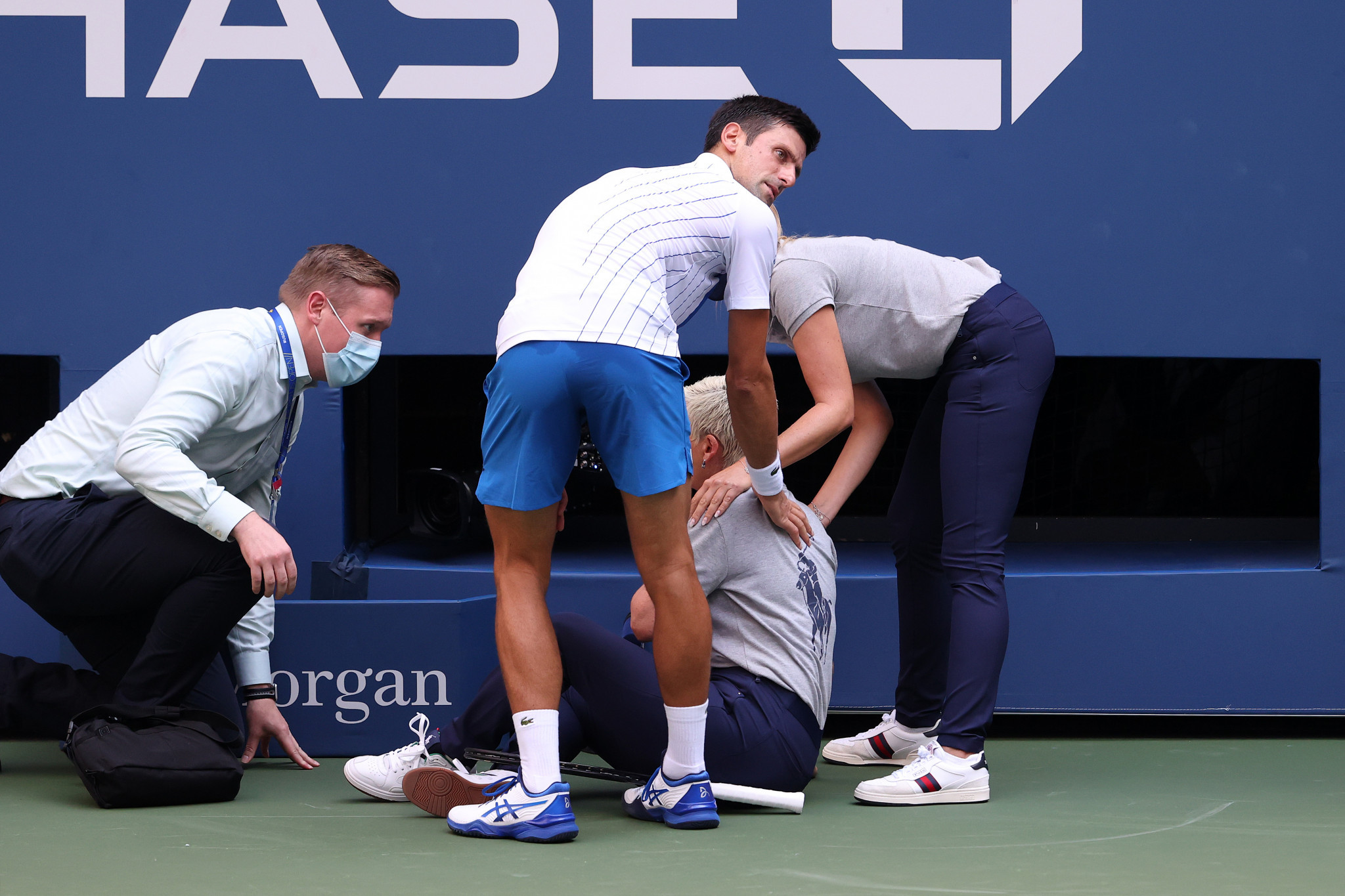 Djokovic disqualified from US Open as more women's seeds lose
