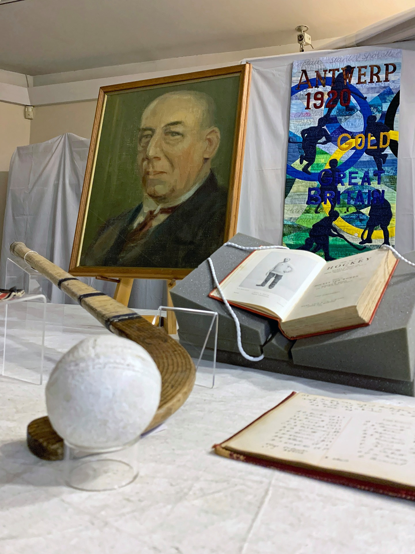 A collection of other Olympic memorabilia was loaned to The Hockey Museum by Harry Haslam's family to mark the centenary of Britain's Olympic gold medal at Antwerp 1920 ©The Hockey Museum