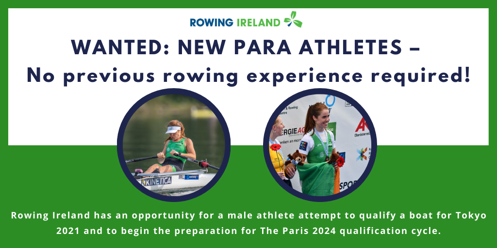 Rowing Ireland seeking male athlete to help qualify boat for Tokyo 2020