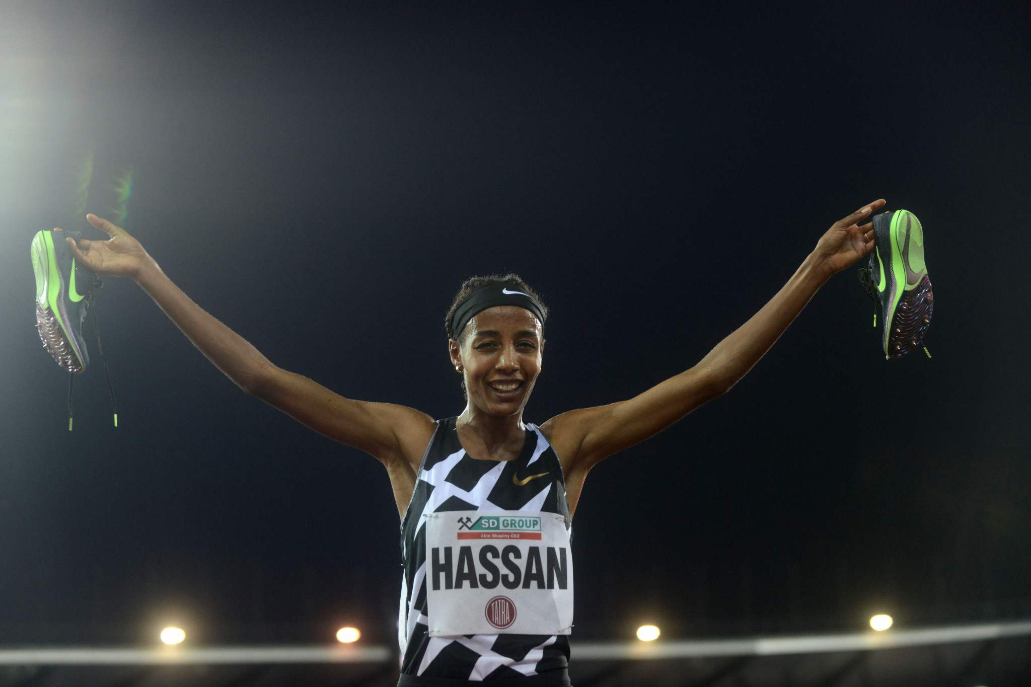 Sifan Hassan ran a season's best in the women's 5000m ©Getty Images