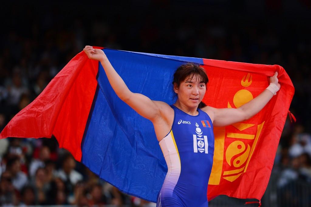 Battsetseg Soronzonbold won gold at the World Wrestling Championships in Las Vegas in September