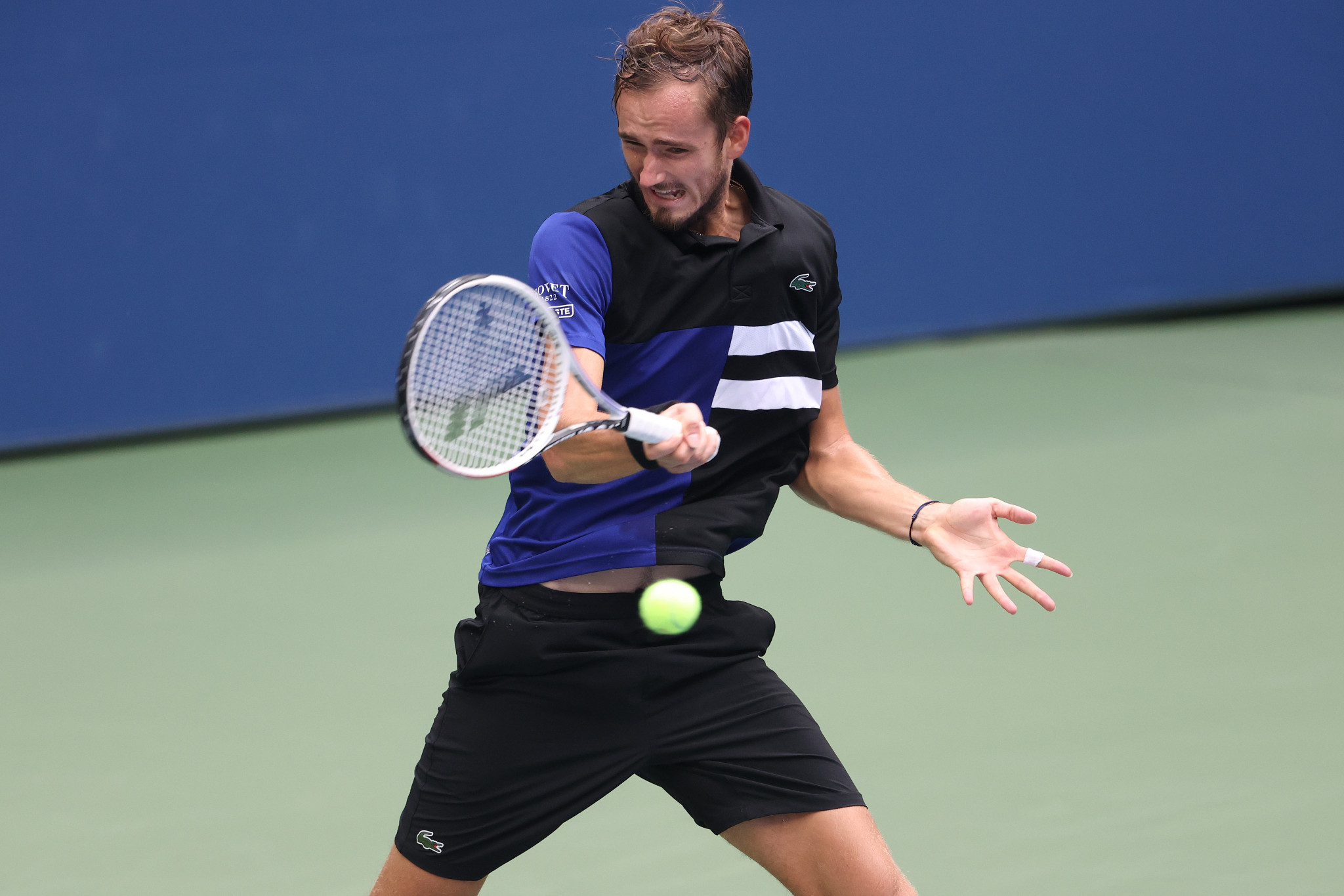 Last year's runner-up Daniil Medvedev reached the US Open semi-finals with a straight sets win over fellow Russian Andrey Rublev ©Getty Images