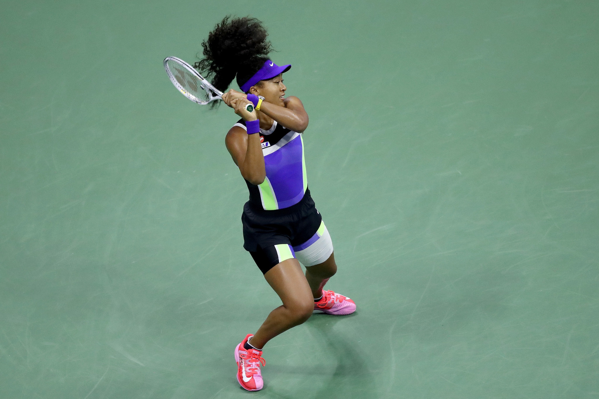 Naomi Osaka overcame American Shelby Rogers in straight sets to reach the last four ©Getty Images