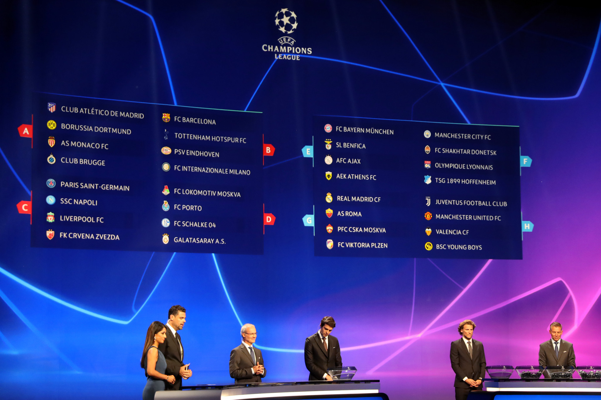 draws for uefa s two major club competitions moved from athens club competitions moved from athens