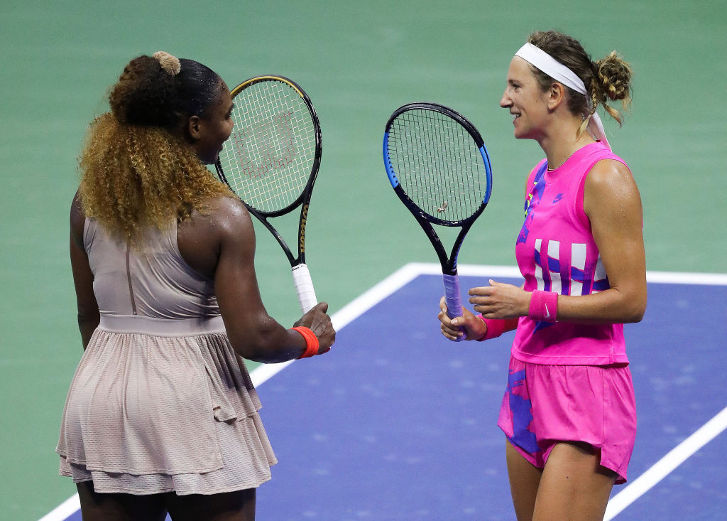The two players are good friends off the court and spoke after the match had finished ©Getty Images