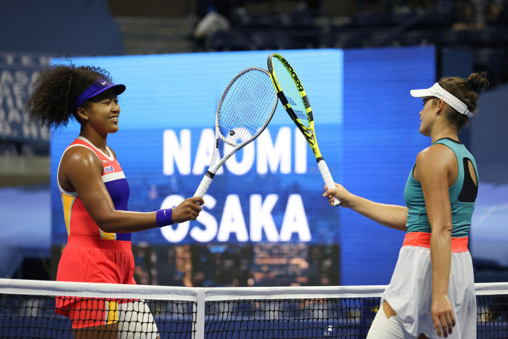 Tapping rackets has replaced the post-match handshake due to COVID-19 ©Getty Images
