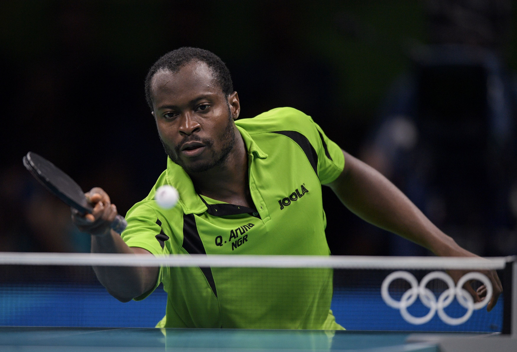 Quadri Aruna's performance at the Rio 2016 Olympic Games inspired the African Table Tennis Federation to work with Athletic Club de Boulogne-Billancourt ©Getty Images