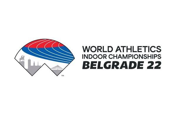 Belgrade 2022 launch logo for World Athletics Indoor Championships