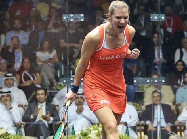 England's Laura Massaro has become women's world number one for the first time in her career ©PSA