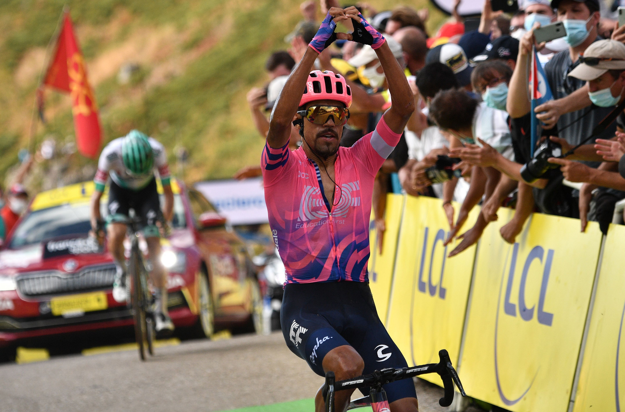 Dani Martinez clinched a maiden Tour de France stage win ©Getty Images