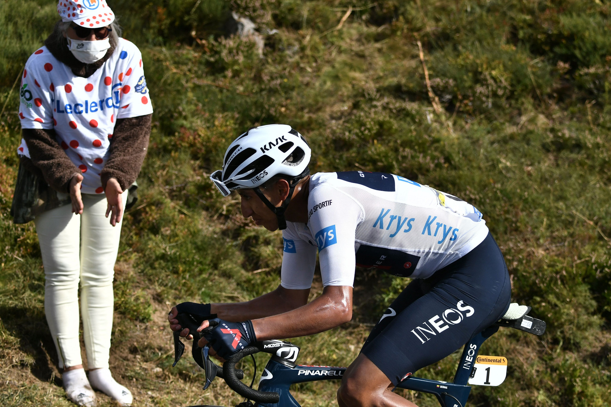 Defending champion Egan Bernal lost 38 seconds to Roglič and Pogačar ©Getty Images