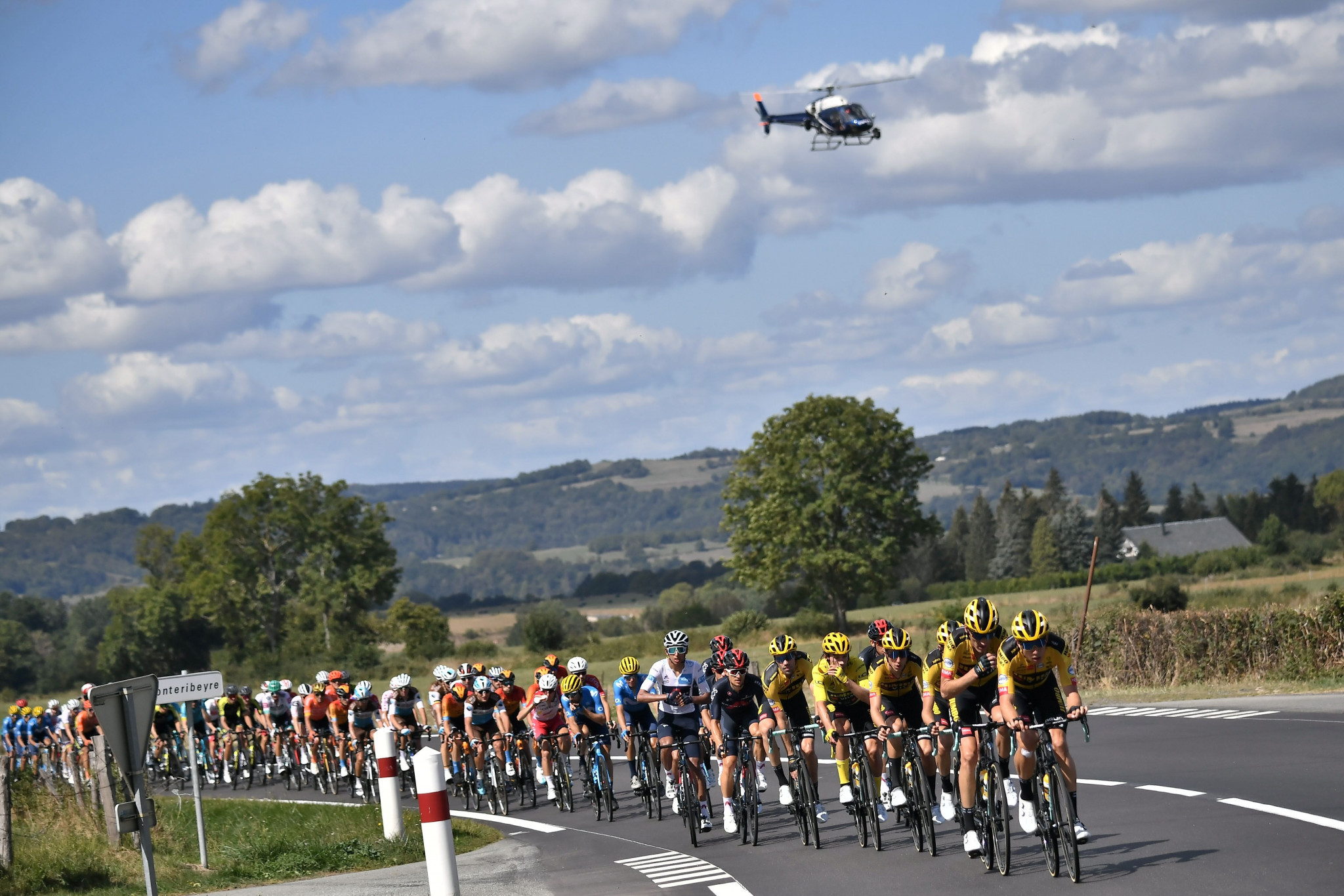 The 13th stage took riders from Châtel-Guyon to Puy Mary ©Getty Images
