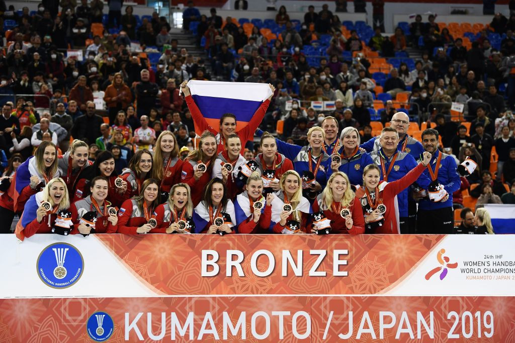 Russia claimed bronze at the 2019 Women's Handball World Championship in Japan ©Getty Images