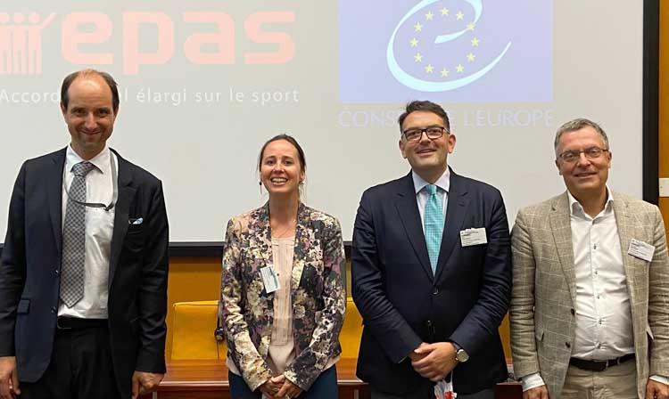 International School Sport Federation representative Kolë Gjeloshaj, centre right, has been confirmed as the chair of the committee ©FIAS