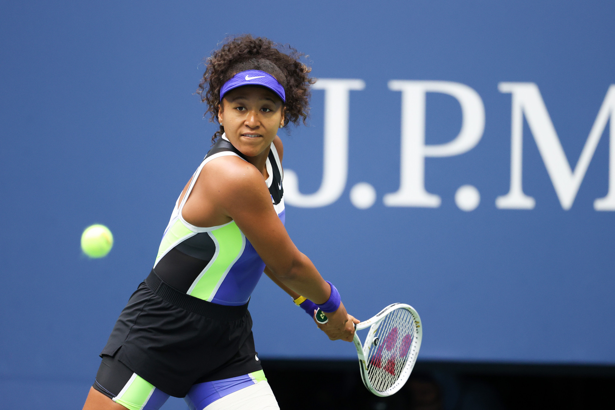 Osaka, 22, was made to battle for her third Grand Slam title by unseeded Belarusian Azarenka ©Getty Images
