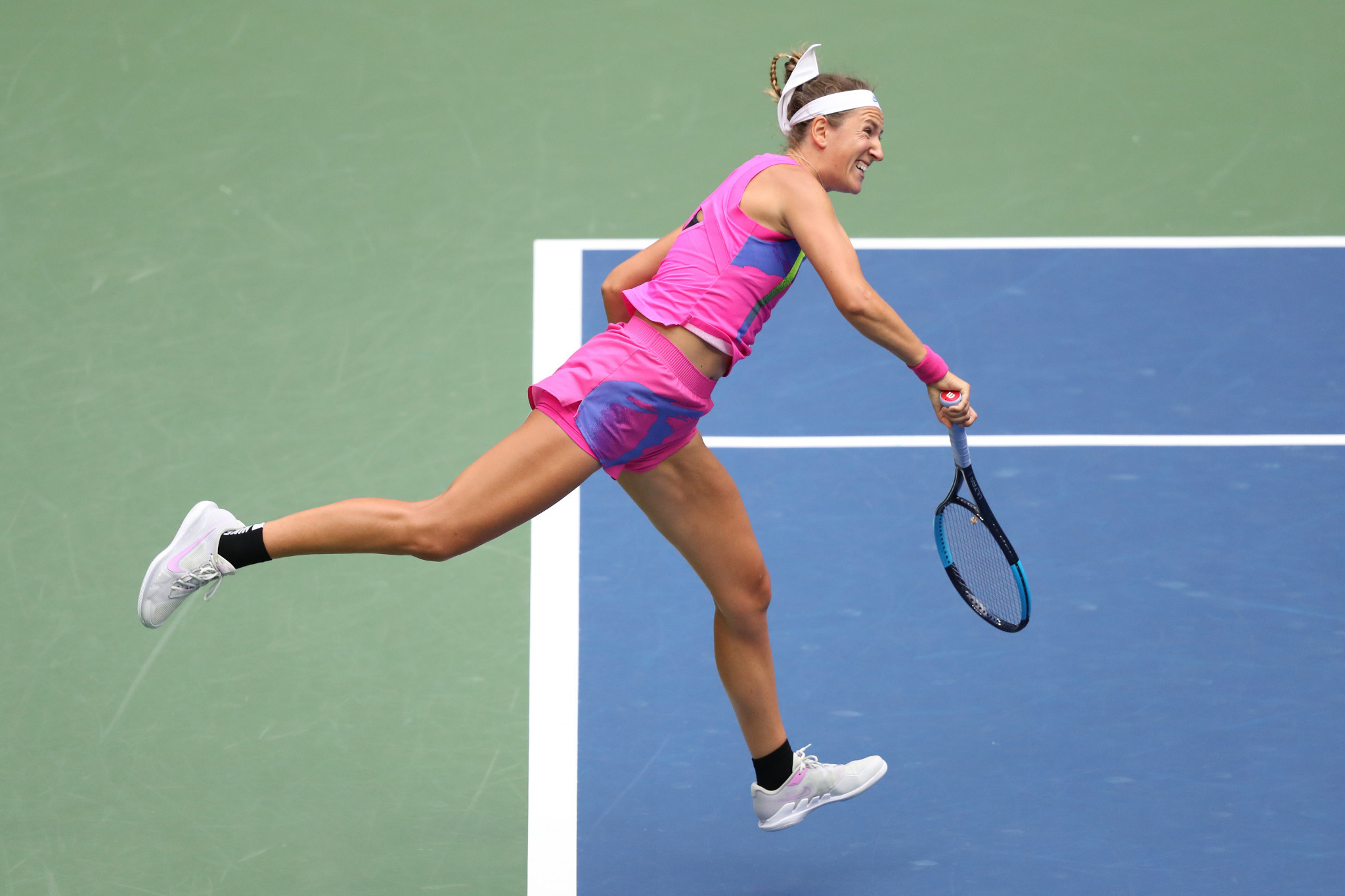 Azarenka, a former world number one, won eight of the first nine games before Osaka's stunning turnaround ©Getty Images