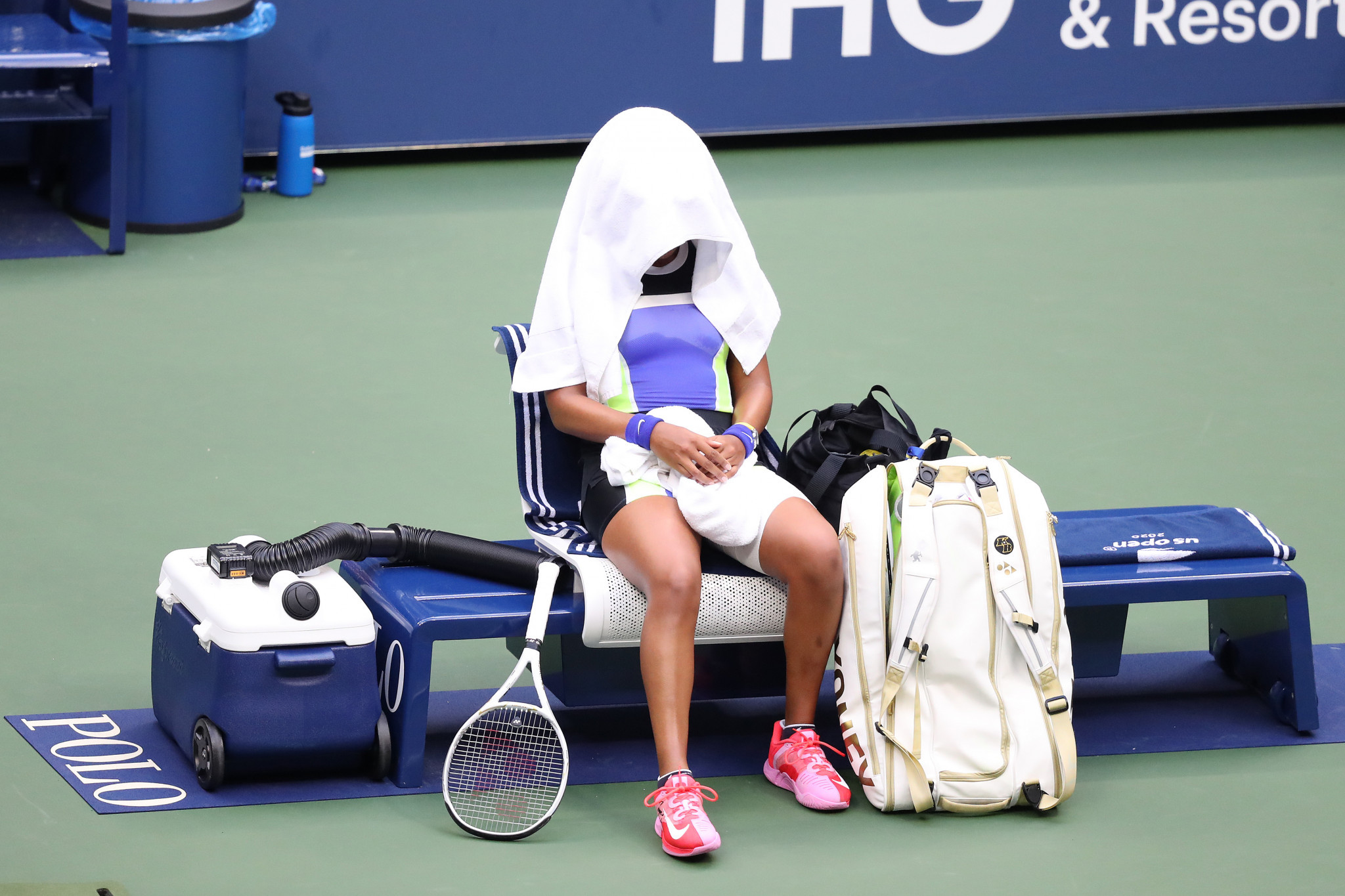 Osaka admitted during her post-match interview that avoiding defeat inside an hour was motivation for her comeback win ©Getty Images