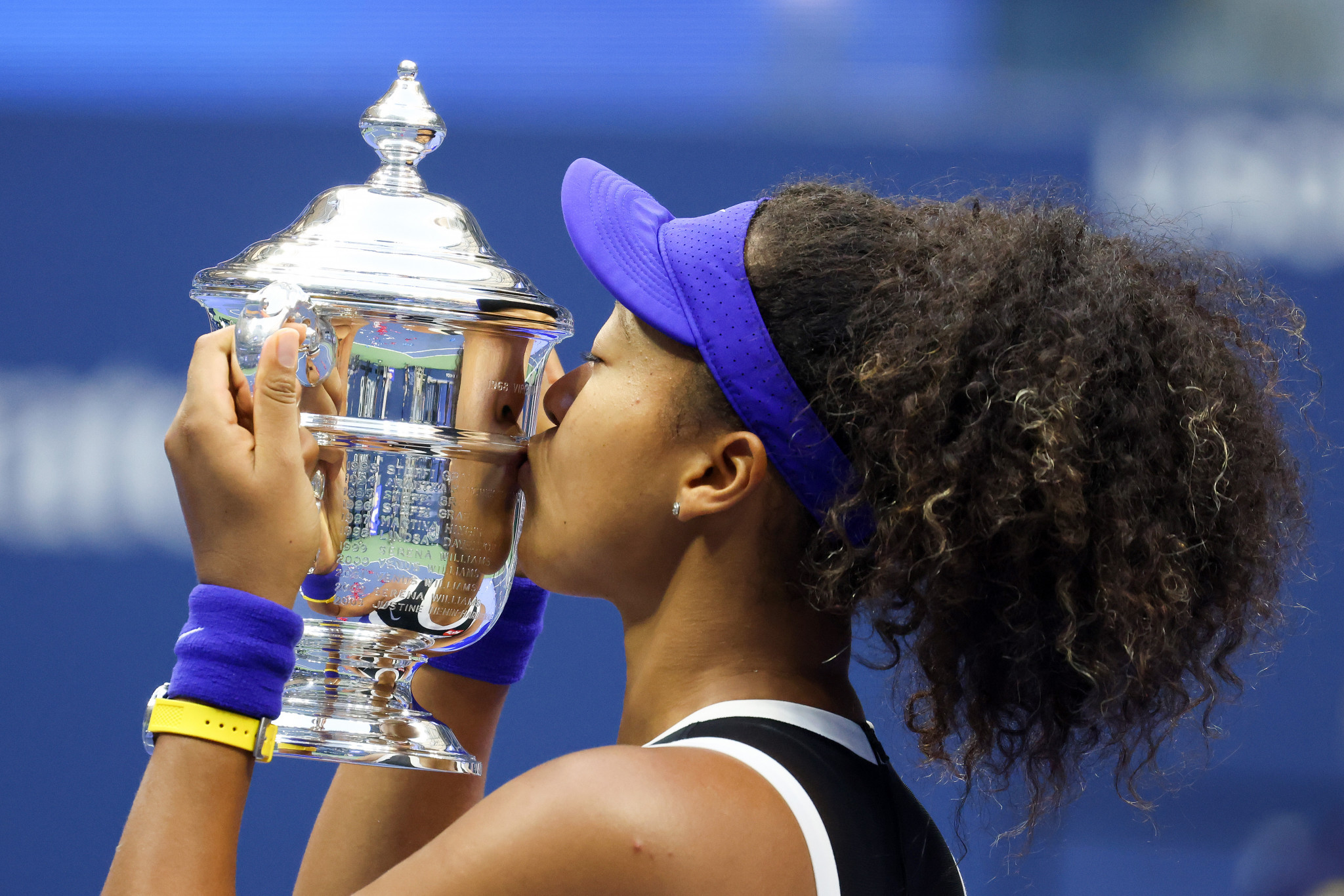 Naomi Osaka won her second US Open title in three years with victory over Victoria Azarenka ©Getty Images