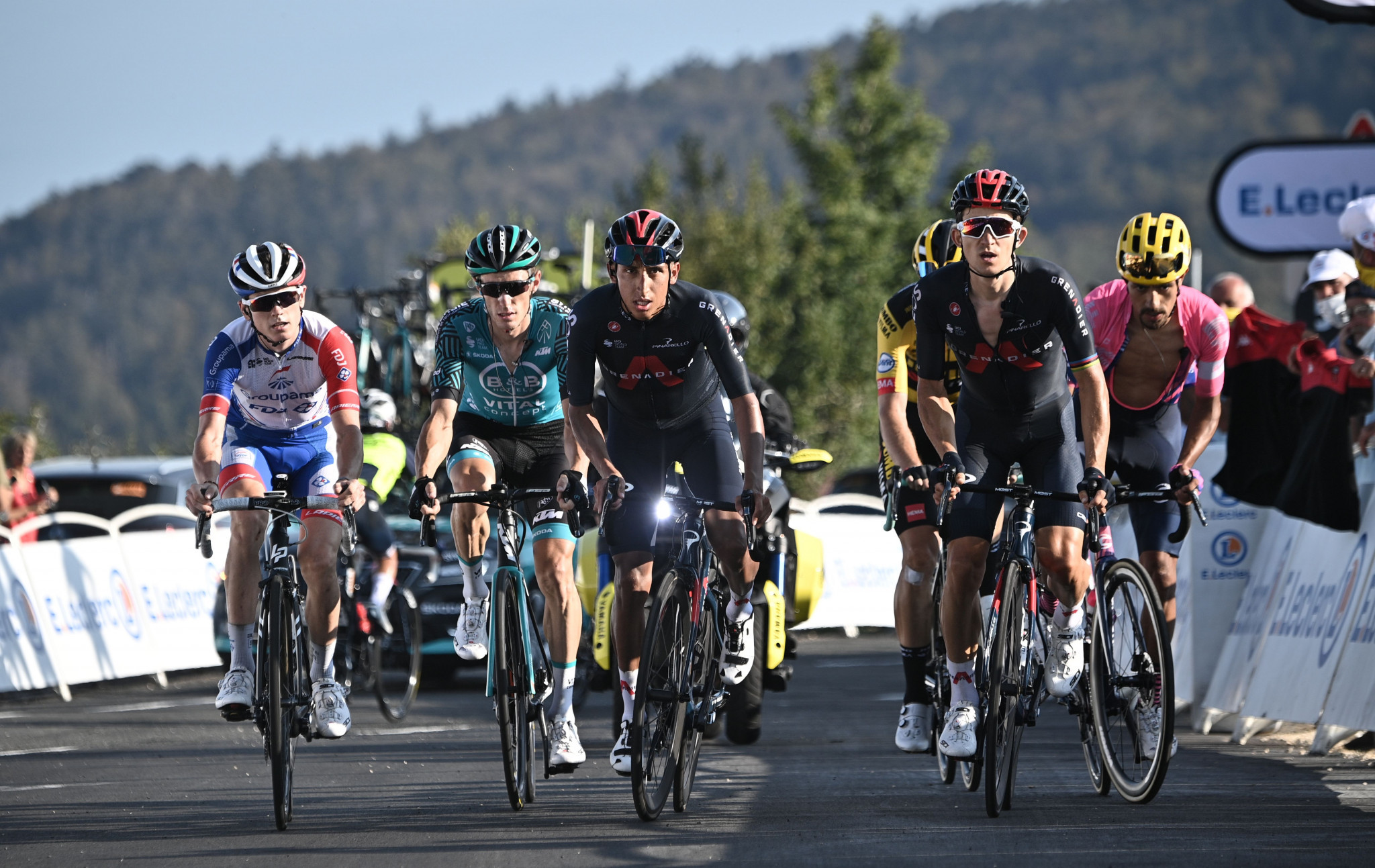Egan Bernal lost over seven minutes as his general classification hopes effectively ended ©Getty Images