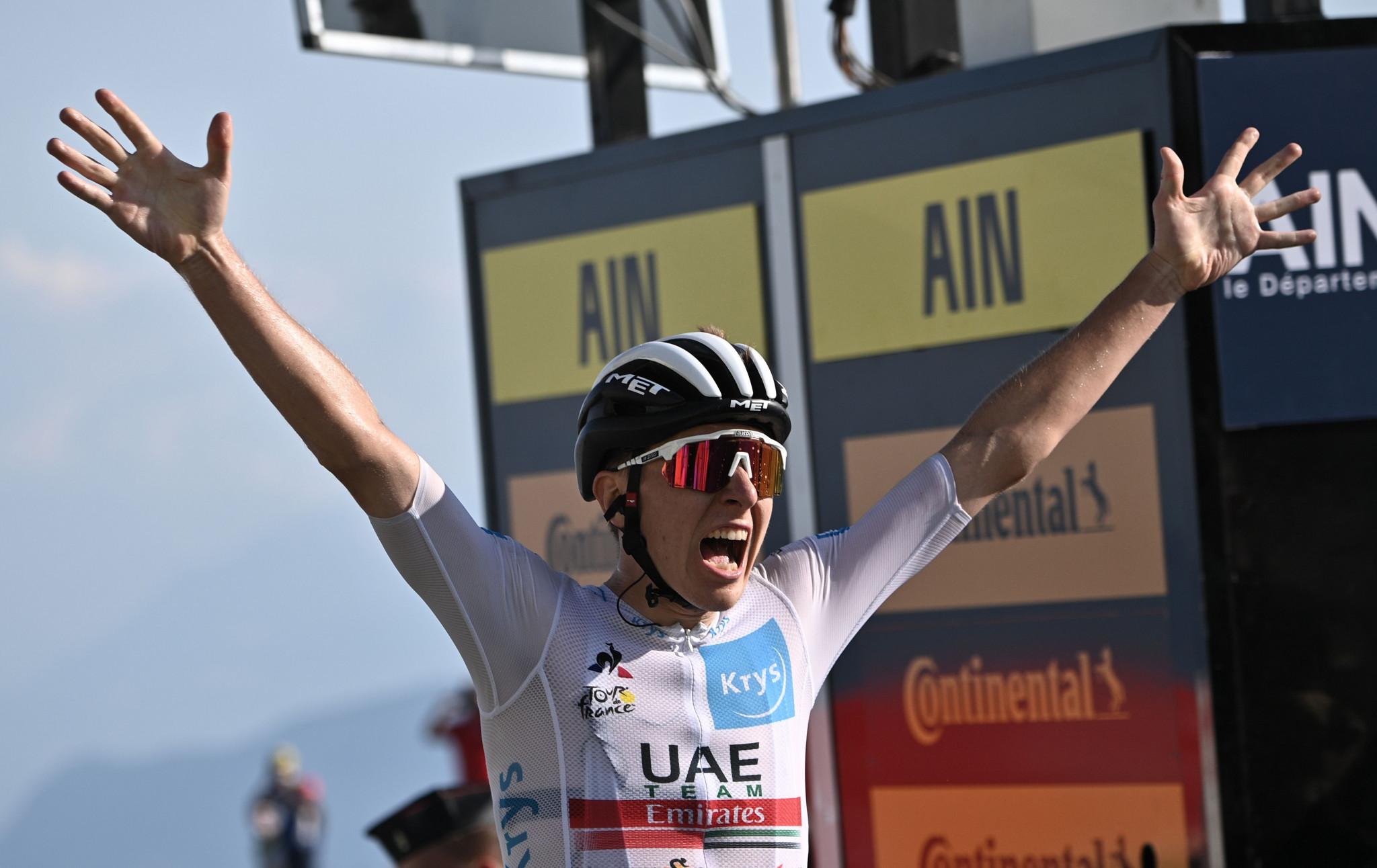 Pogačar edges Roglič for stage win on key day at Tour de France