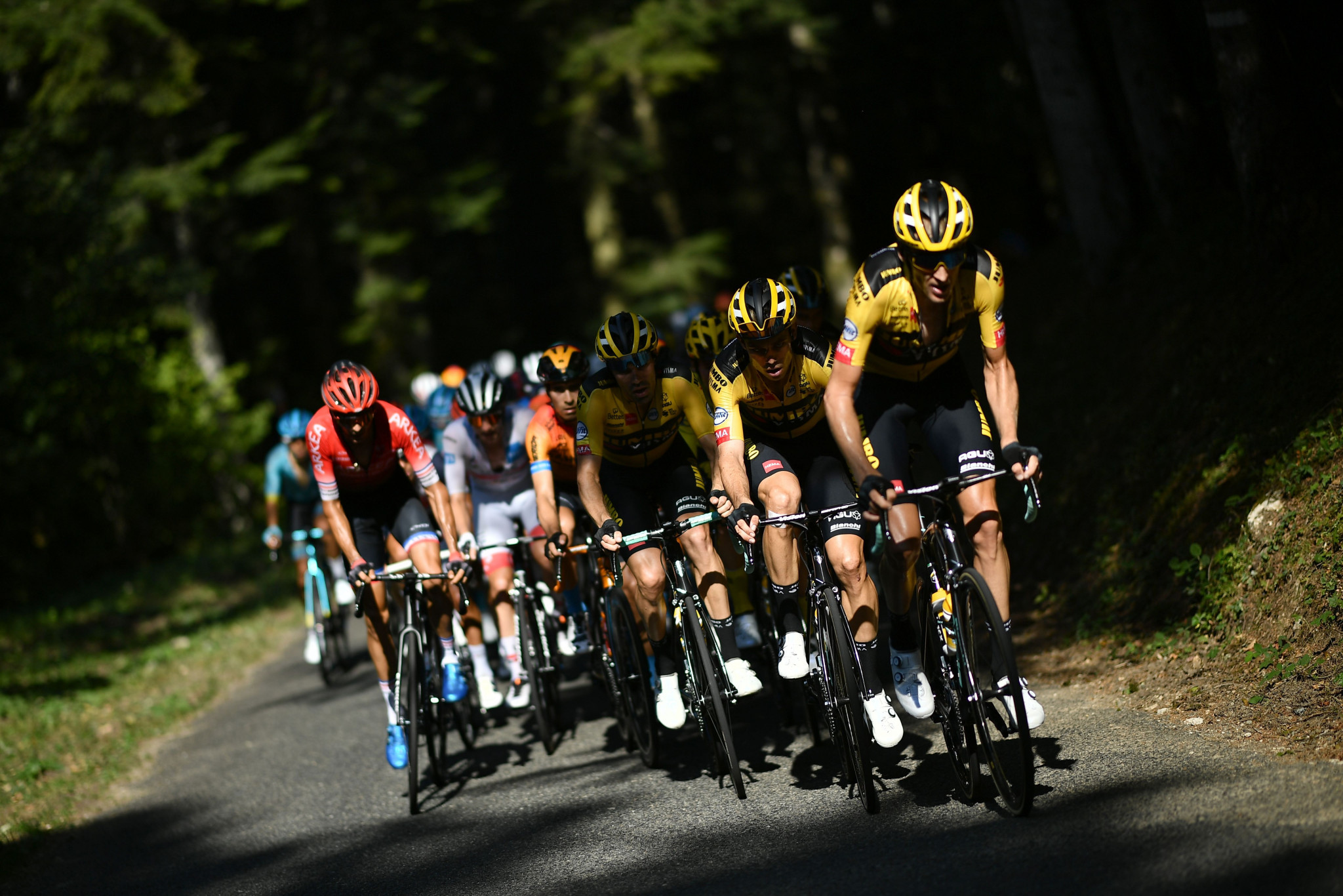 The stage on the Grand Colombier was considered vital in the general classification race ©Getty Images