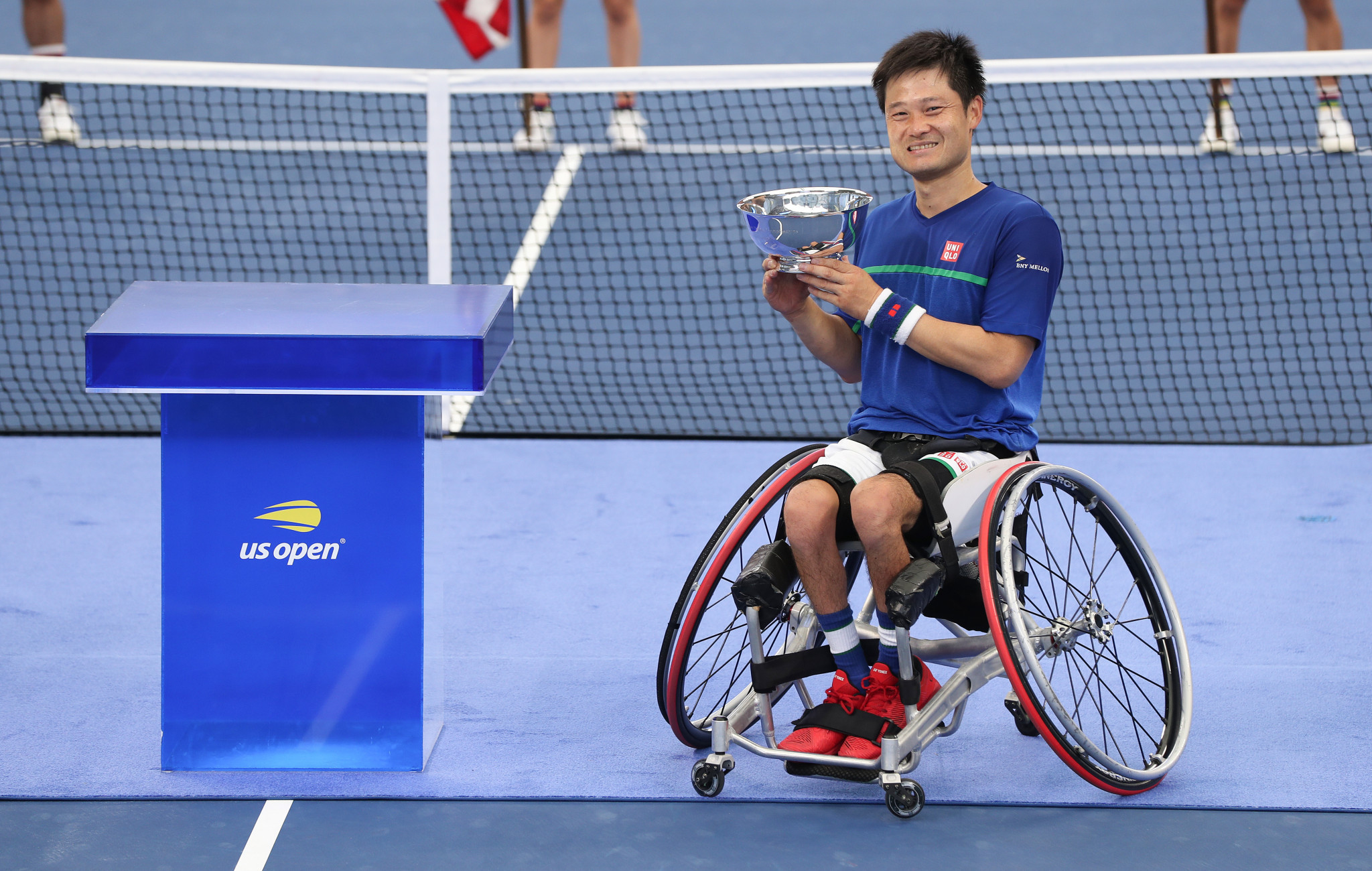 Japan's Shingo Kunieda won his sixth US Open title after defeating Britain's Alfie Hewett in three sets ©Getty Images