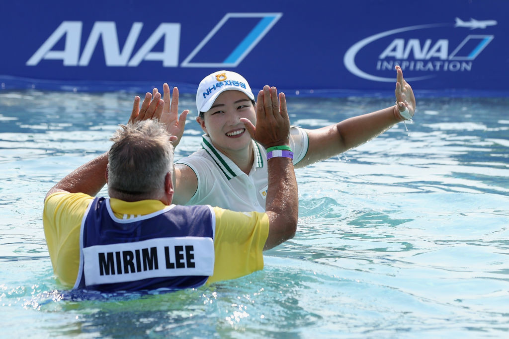 Lee wins play-off to secure first major title at ANA Inspiration