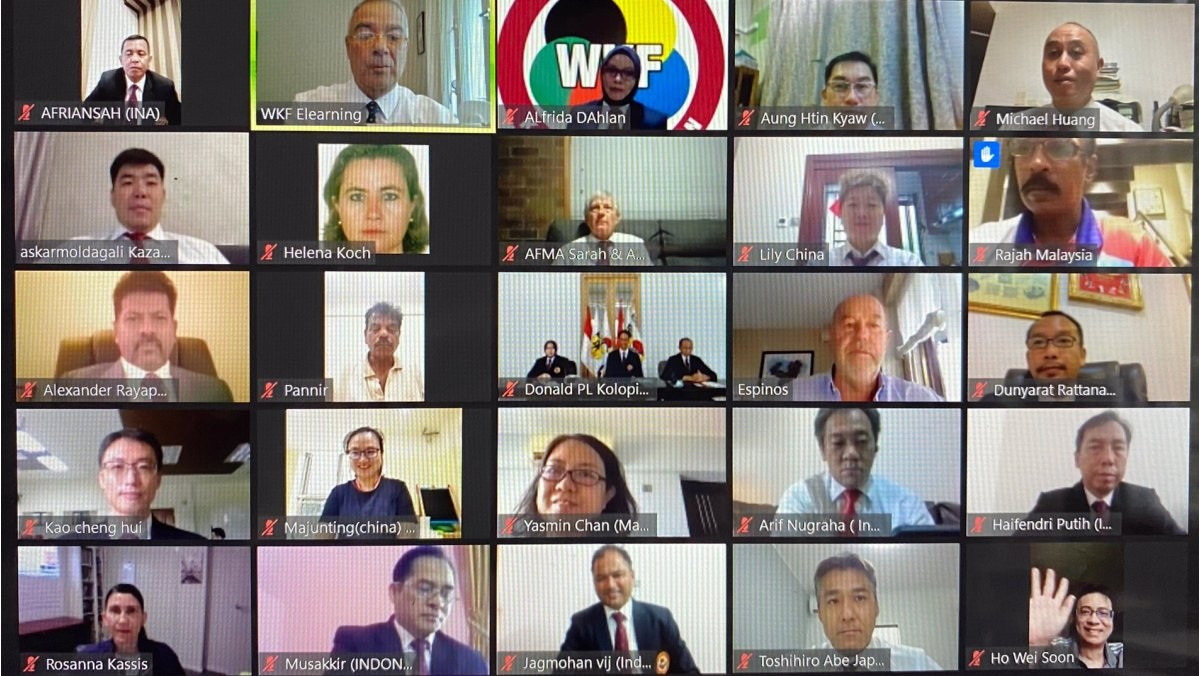 Nearly 300 referees are understood to have taken part in the video conference headed by WKF President Antonio Espinós ©WKF