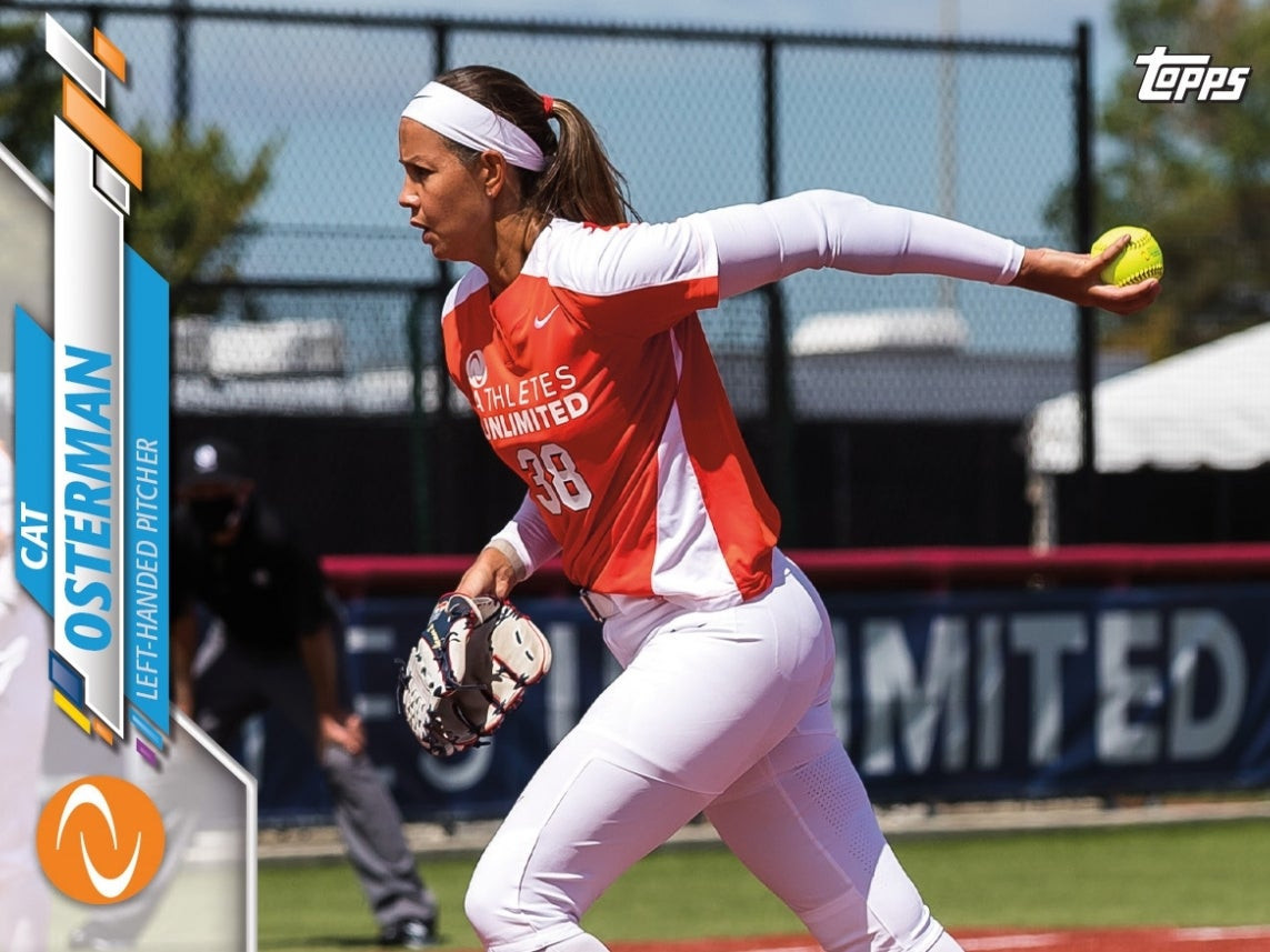 America's Olympic gold medallist Cat Osterman is among 56 players who feature on the new Topps cards ©Topps