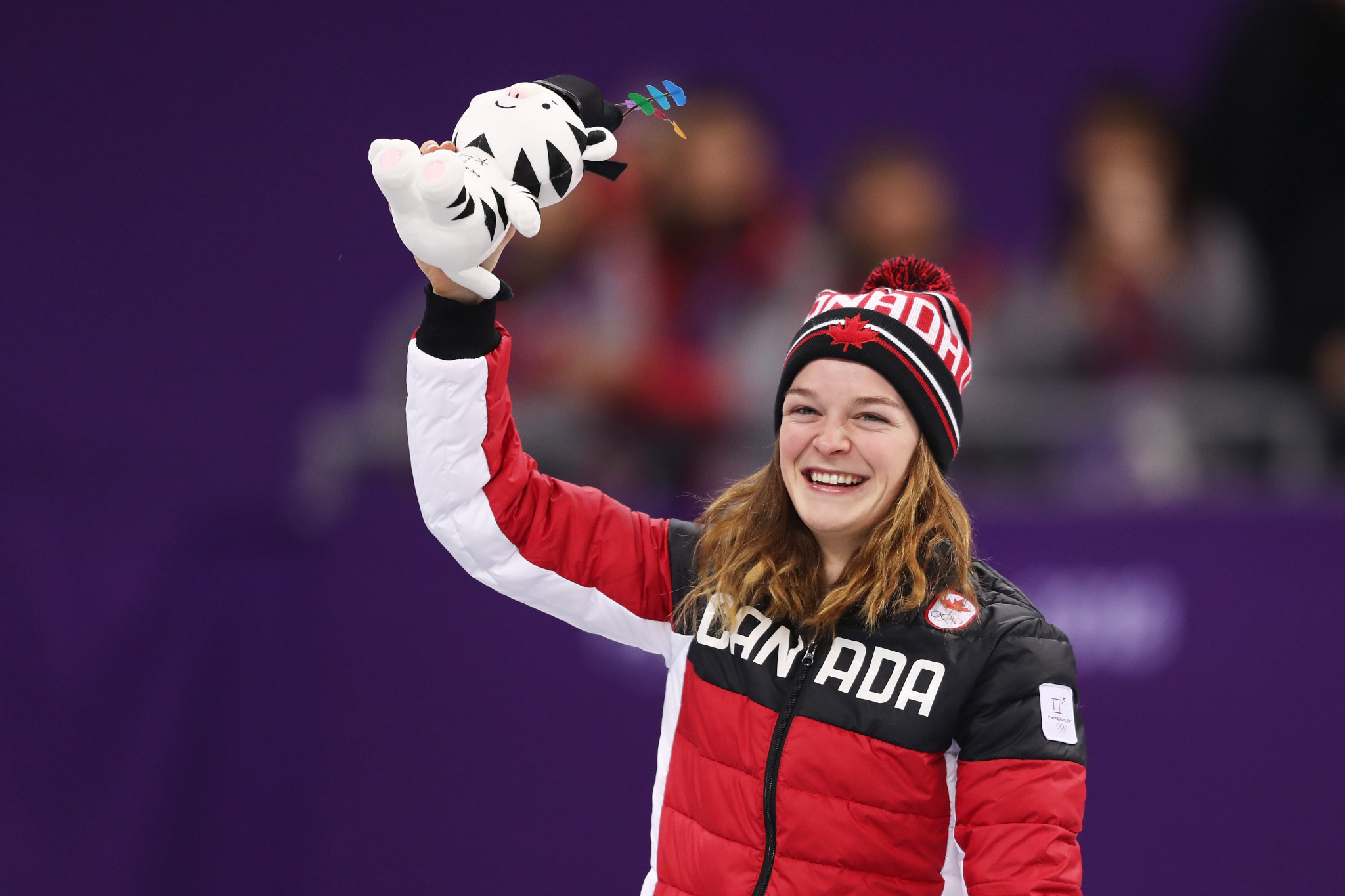 Kim Boutin was named Canada's top female short track skater of the year ©Getty Images