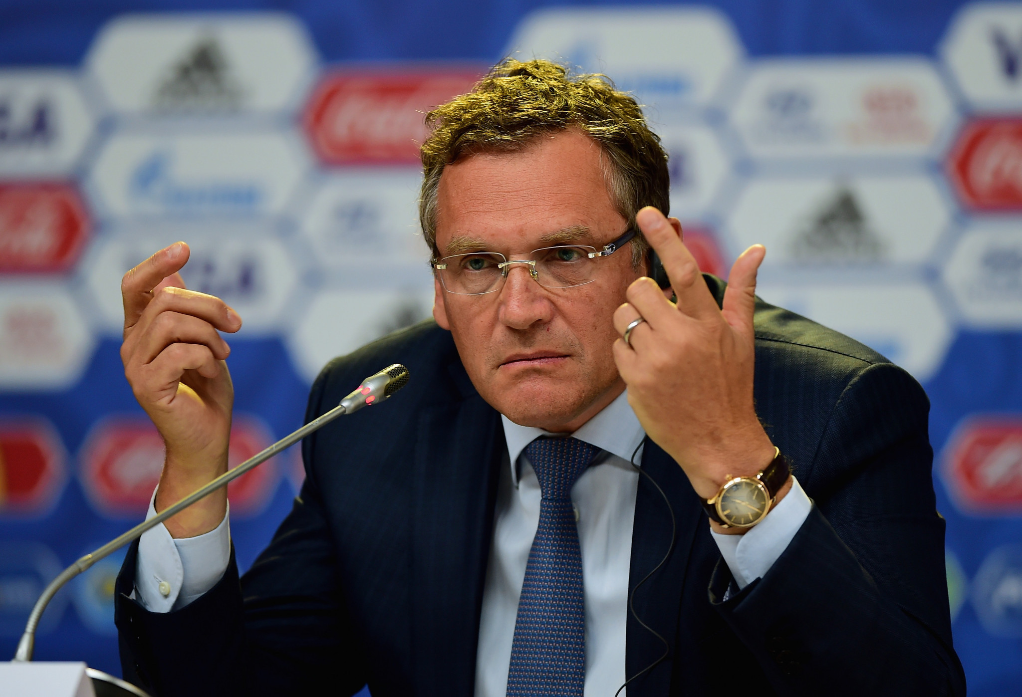 Valcke, already banned from football for ten years by FIFA, denies all charges against him in this trial ©Getty Images