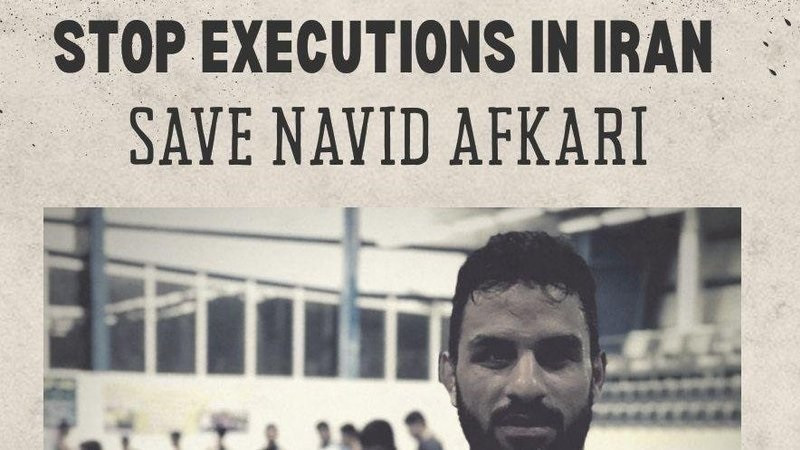 Navid Afkari was executed after being given two death sentences for allegedly stabbing a security guard to death and his involvement in demonstrations against the country's regime in 2018 ©Change.org