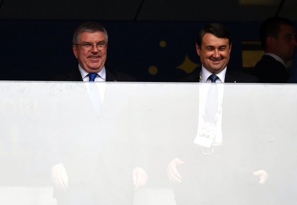 Igor Levitin, right, is a first vice-president of the Russian Olympic Committee and a high-ranking table tennis official ©Getty Images