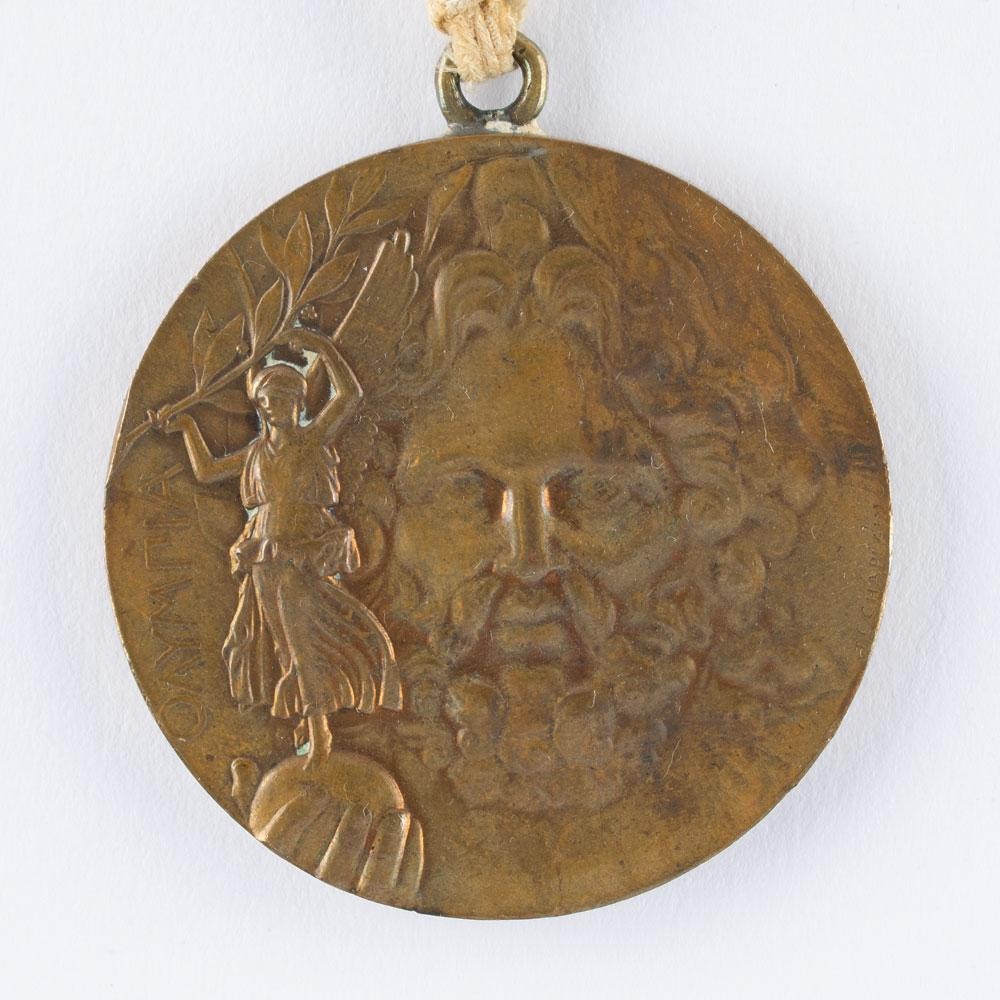 An Olympic medal awarded at Athens 1896 has been auctioned for more than $65,000 ©RR Auction