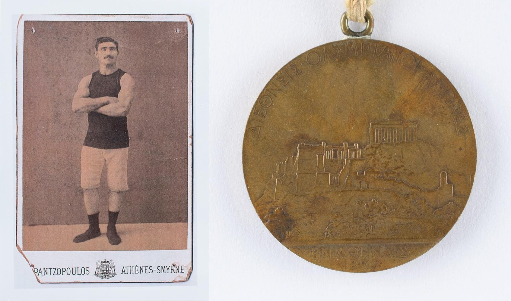 Greece's Georgios Tsitas won the Olympic medal for finishing second in the Greco-Roman wrestling event in a competition that took days to complete ©RR Auction